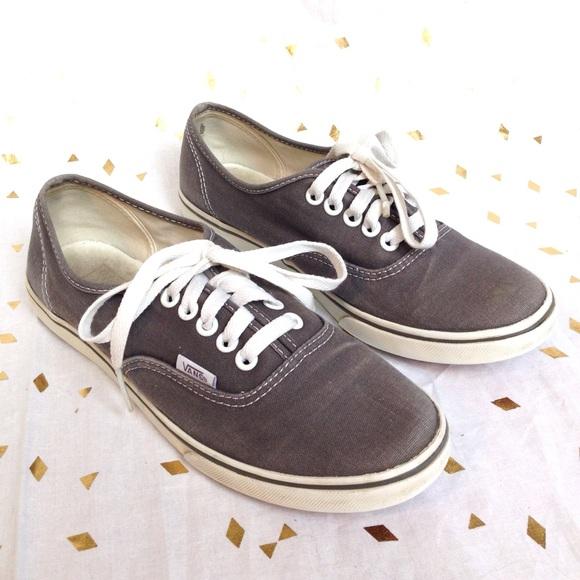 1f1182c04a Vans Vintage Grey Canvas Shoes